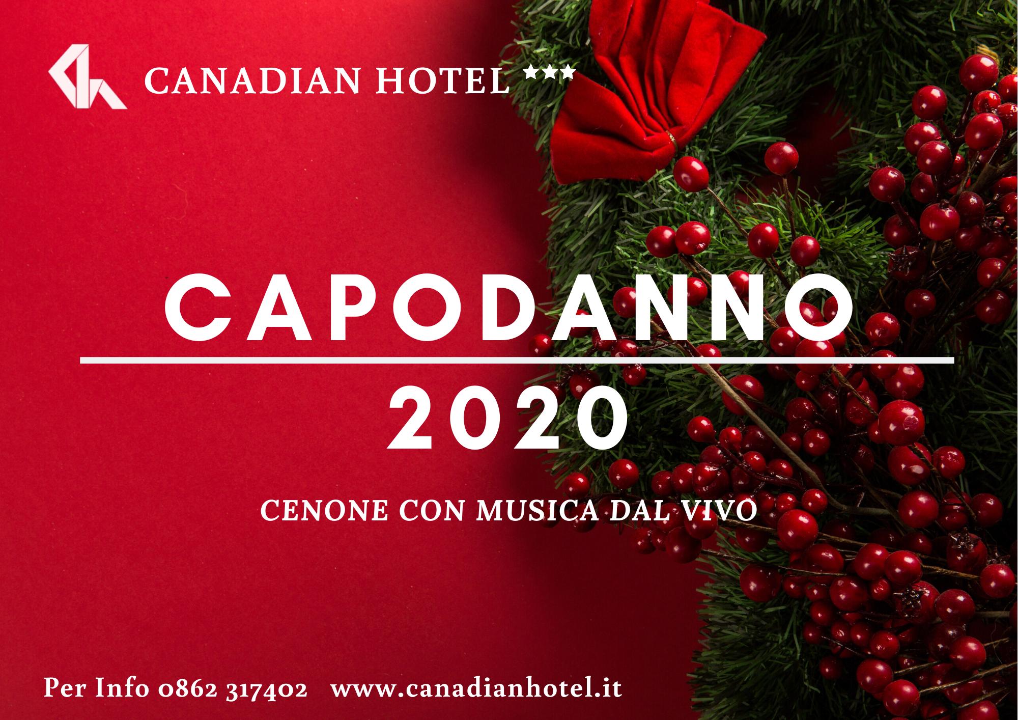L'Hotel Canadian è lieto di invitarvi al Cenone di Capodanno!!